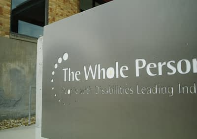 The Whole Person Welcome Sign